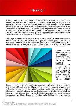 Colored Ribbons Converging to One Point Word Template First Inner Page