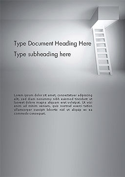 Ladder Upwards Word Template, Cover Page, 14158, Careers/Industry — PoweredTemplate.com