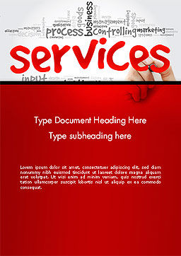 Developing a Perfect Services Word Template, Cover Page, 14160, Careers/Industry — PoweredTemplate.com