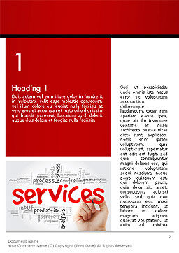Developing a Perfect Services Word Template, First Inner Page, 14160, Careers/Industry — PoweredTemplate.com