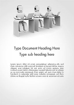 Outbound Call Center Word Template, Cover Page, 14164, Careers/Industry — PoweredTemplate.com
