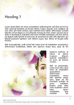 Beauty Parlor Word Template First Inner Page