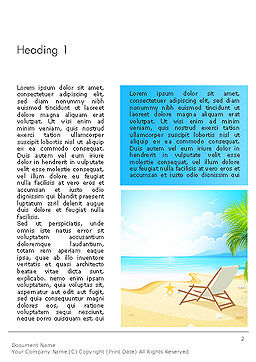 Sunny Beach Vacation Word Template First Inner Page