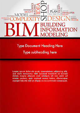 BIM Word Cloud Word Template, Cover Page, 14170, Careers/Industry — PoweredTemplate.com