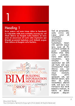 BIM Word Cloud Word Template, First Inner Page, 14170, Careers/Industry — PoweredTemplate.com