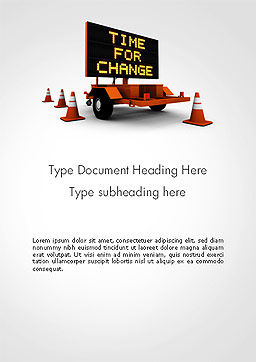Making Changes Word Template, Cover Page, 14172, Business Concepts — PoweredTemplate.com