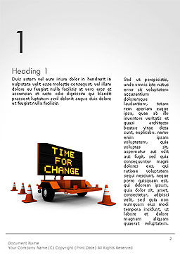 Making Changes Word Template, First Inner Page, 14172, Business Concepts — PoweredTemplate.com