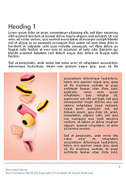 Sweet Candies Word Template, First Inner Page, 14176, Food & Beverage — PoweredTemplate.com