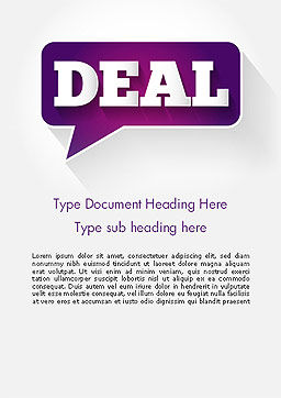 Word Deal Word Template, Cover Page, 14180, Business Concepts — PoweredTemplate.com