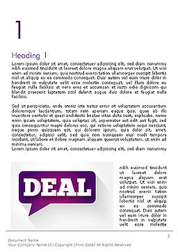 Word Deal Word Template, First Inner Page, 14180, Business Concepts — PoweredTemplate.com