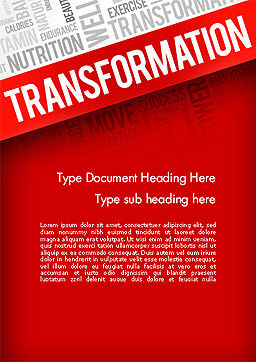 Transformation Word Cloud Word Template, Cover Page, 14183, Sports — PoweredTemplate.com
