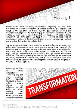 Transformation Word Cloud Word Template, First Inner Page, 14183, Sports — PoweredTemplate.com