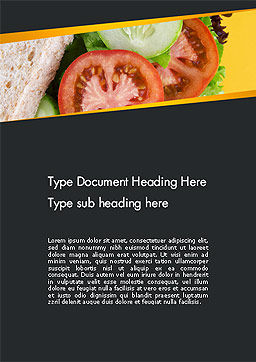 Healthy Snack Word Template, Cover Page, 14185, Food & Beverage — PoweredTemplate.com