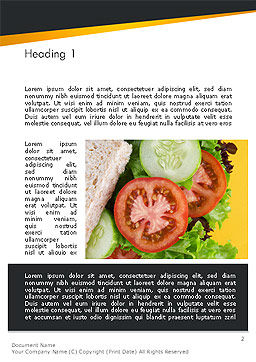 Healthy Snack Word Template, First Inner Page, 14185, Food & Beverage — PoweredTemplate.com