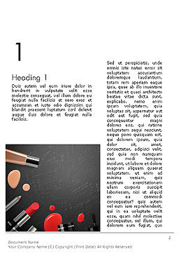 Makeup Mockup Word Template, First Inner Page, 14188, Careers/Industry — PoweredTemplate.com