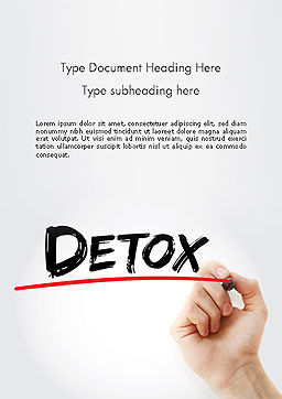 Hand Writing Detox with Marker Word template, Cover Page, 14189, 3D — PoweredTemplate.com