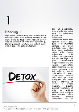 Hand Writing Detox with Marker Word template, First Inner Page, 14189, 3D — PoweredTemplate.com