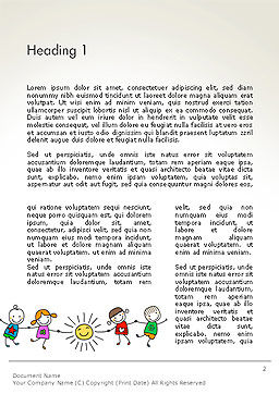 Childish Drawings Word Template First Inner Page
