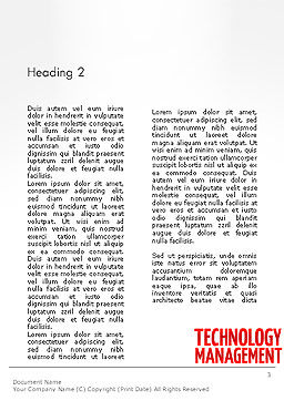 Technology Management Word Cloud Word Template Second Inner Page