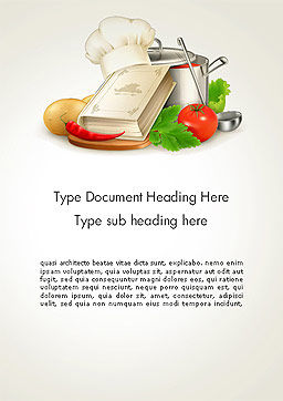 Cookbook Word Template, Cover Page, 14209, Careers/Industry — PoweredTemplate.com