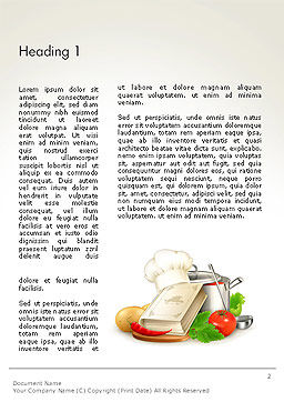 Cookbook Word Template First Inner Page