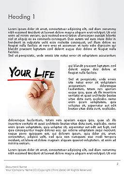 Hand Writing Clear Your Life with Marker Word Template, First Inner Page, 14211, Business Concepts — PoweredTemplate.com
