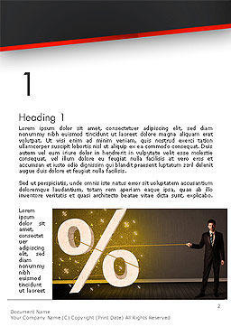 Businessman Pilling Percent Sign Word Template, First Inner Page, 14212, Financial/Accounting — PoweredTemplate.com