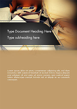 Records Management Word Template Cover Page
