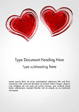Two Hears Word Template, Cover Page, 14223, Holiday/Special Occasion — PoweredTemplate.com