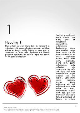 Two Hears Word Template, First Inner Page, 14223, Holiday/Special Occasion — PoweredTemplate.com