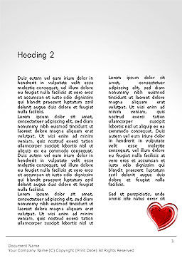 Two Hears Word Template, Second Inner Page, 14223, Holiday/Special Occasion — PoweredTemplate.com