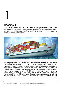 Sea Freight Word Template, First Inner Page, 14225, Cars/Transportation — PoweredTemplate.com