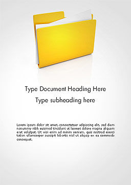 Document Folder Word Template, Cover Page, 14226, Business — PoweredTemplate.com