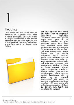 Document Folder Word Template, First Inner Page, 14226, Business — PoweredTemplate.com