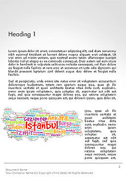 Turkish Cities Word Cloud Word Template First Inner Page