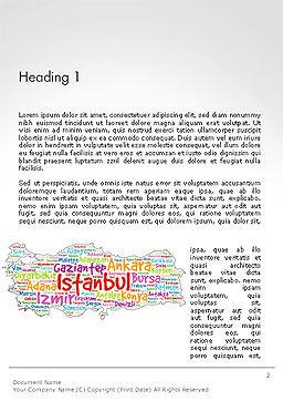 Turkish Cities Word Cloud Word Template, First Inner Page, 14228, Flags/International — PoweredTemplate.com