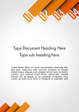 Four Options Word Template, Cover Page, 14229, Business Concepts — PoweredTemplate.com
