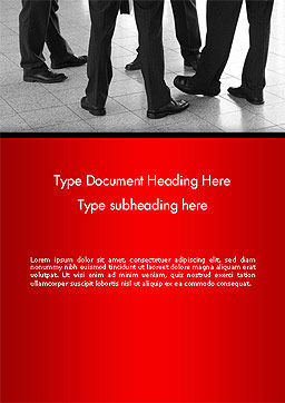 Business People Standing Word Template, Cover Page, 14234, Business — PoweredTemplate.com