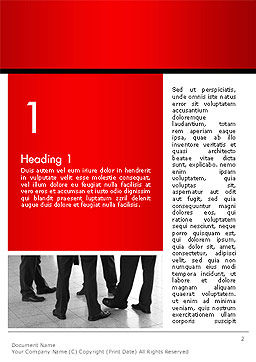 Business People Standing Word Template, First Inner Page, 14234, Business — PoweredTemplate.com