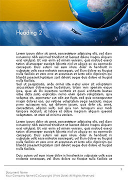 Air Navigation Word Template, Second Inner Page, 14240, Cars/Transportation — PoweredTemplate.com