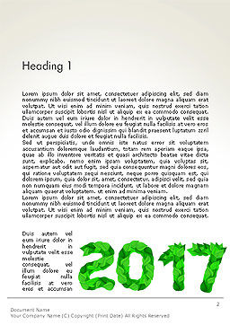 Year 2017 Made from Green Leaves Word Template, First Inner Page, 14241, Nature & Environment — PoweredTemplate.com