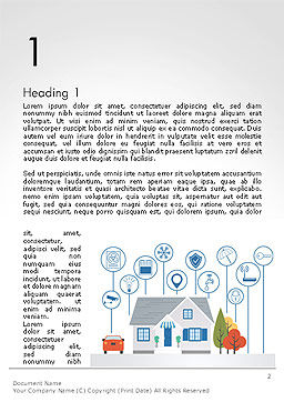 Smart House Word Template, First Inner Page, 14243, 3D — PoweredTemplate.com