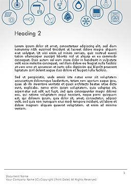 Smart House Word Template, Second Inner Page, 14243, 3D — PoweredTemplate.com