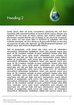Planet Earth Dew Drop  Word Template Second Inner Page