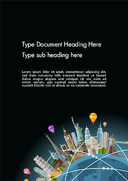 World Travel Word Template Cover Page