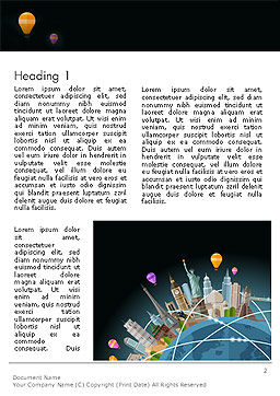 World Travel Word Template First Inner Page