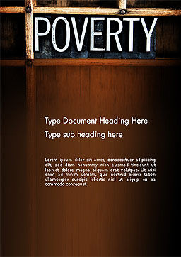 Word Poverty Word Template, Cover Page, 14256, General — PoweredTemplate.com