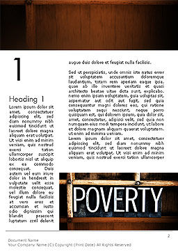 Word Poverty Word Template, First Inner Page, 14256, General — PoweredTemplate.com