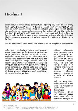 International Children's Day Word Template, First Inner Page, 14257, People — PoweredTemplate.com