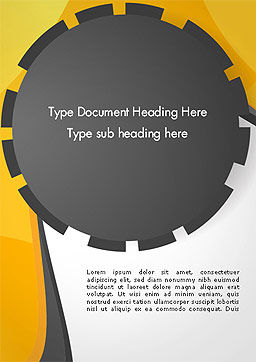 Cogwheel Concept Word Template, Cover Page, 14259, Business — PoweredTemplate.com